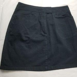 Black khaki skirt